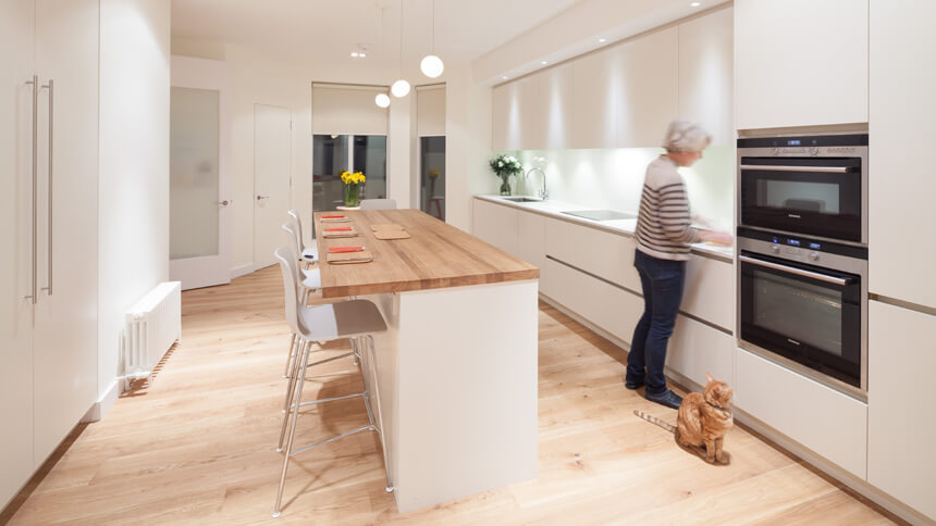 Zero to hero galley kitchens make the most of narrow or for Galley kitchen with breakfast bar