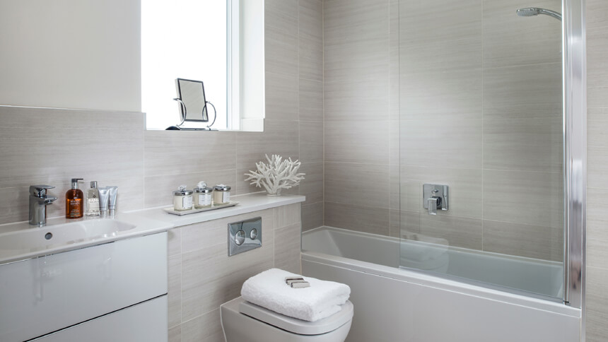 Show home room by room barrington gardens balham for Show home bathrooms