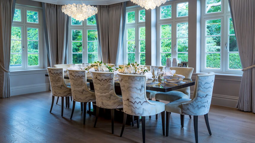 The dining area at Knowle Hill Park