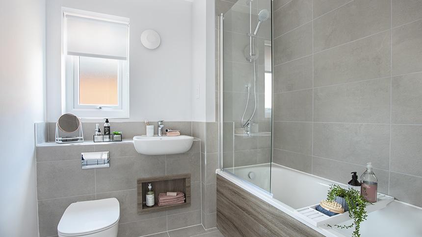 Bathroom at Saxon Reach (L&Q)