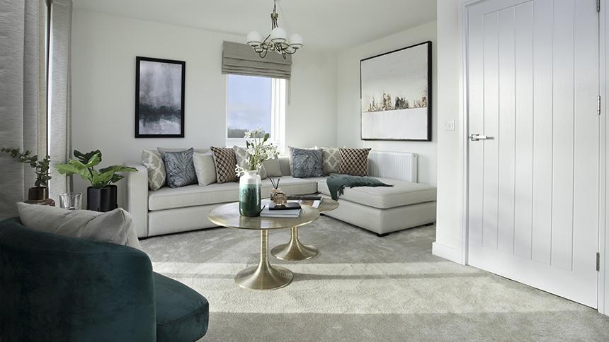 Living Room at Saxon Reach (L&Q)