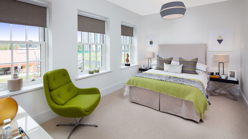 Second bedroom at St Agnes Place show home