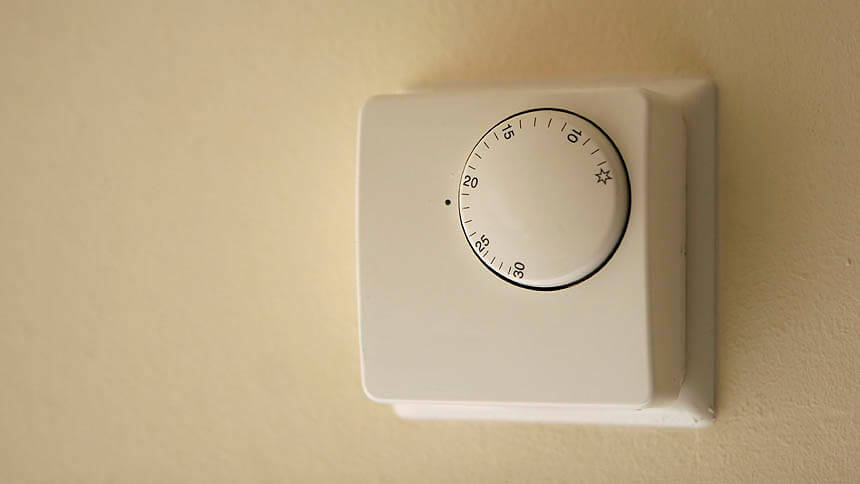 Turn down the thermostat by one degree