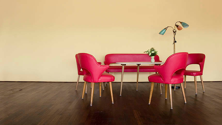 Mid-Century and Deco furniture adds glamour
