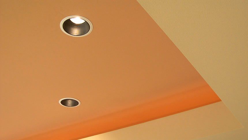 Be discreet with recessed lighting
