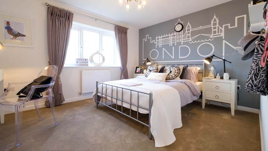 The Fairways older child bedroom  Kier Living. Show home room by room   The Fairways  Corby