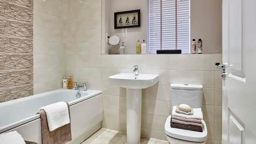 The Penn bathroom (Bellway Homes)