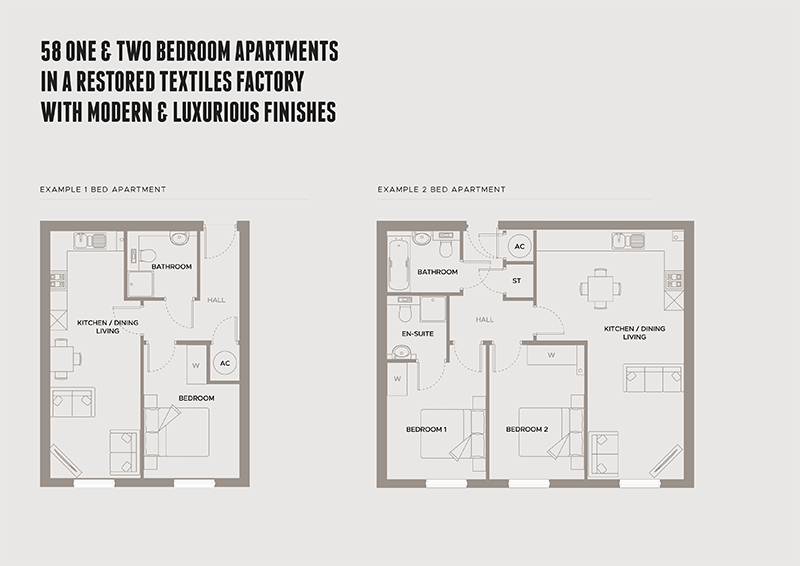 Example 1 & 2 bed apartments