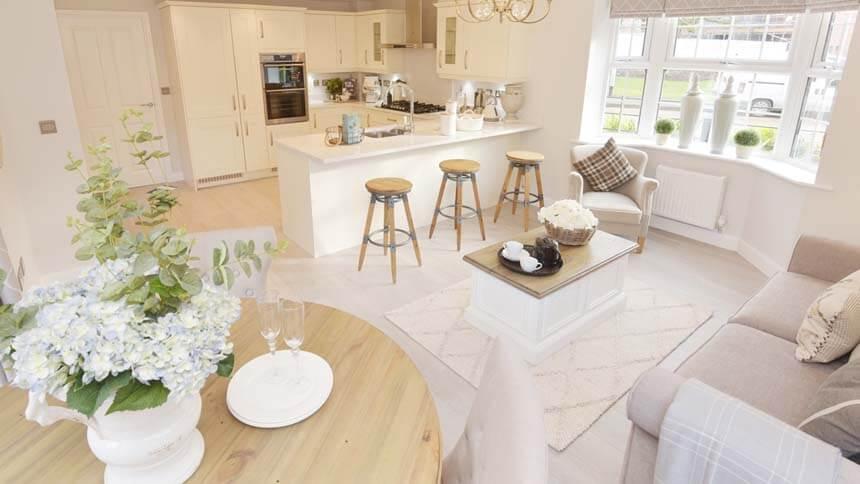 Moorecroft Open Plan Kitchen (David Wilson Homes)