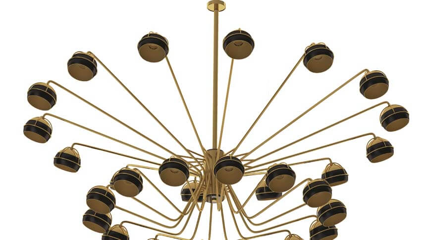 Touched interiors Midnight II Chandelier
