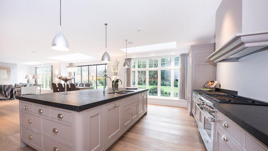 Walpole House open-plan kitchen