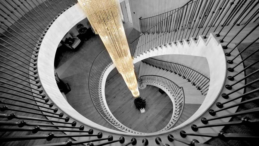 Woodberry Down spiral staircase (Havisham Homes)