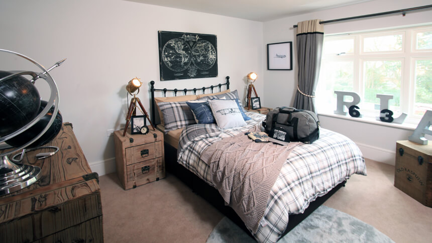 The Harrogate show home master bedroom