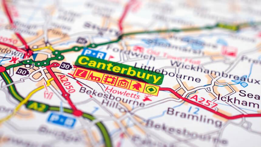 Six villages around Canterbury