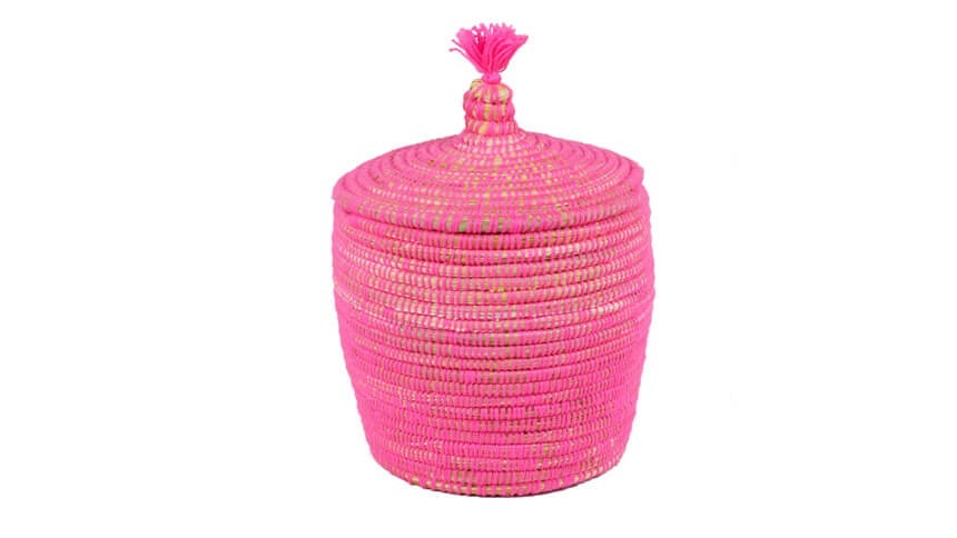 Moroccan lidded basket