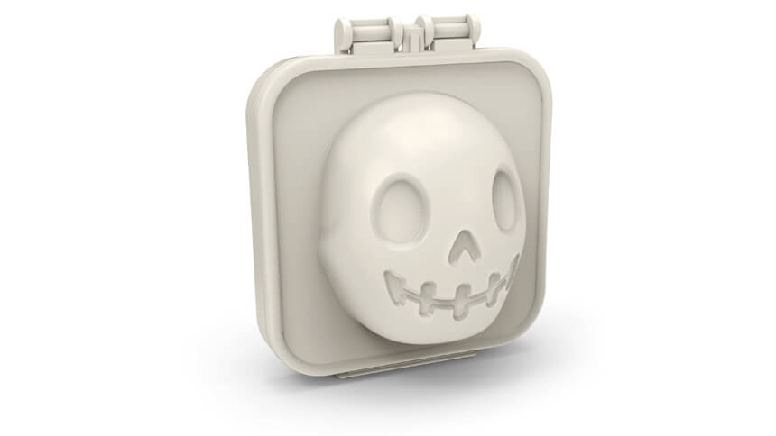 Eerie egg-a-matic skull mould