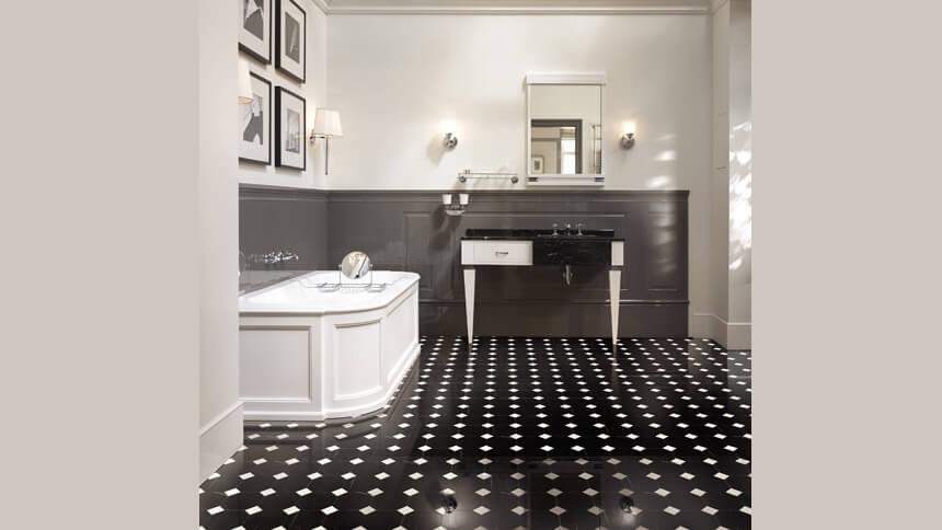 Elegant art deco style bathroom