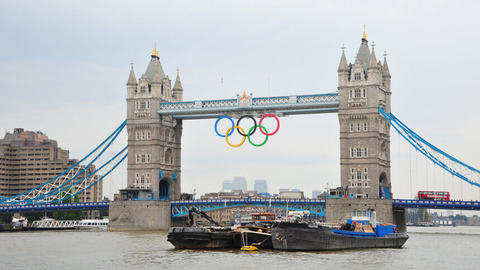 Tower Bridge during the London 2012 Olympics
