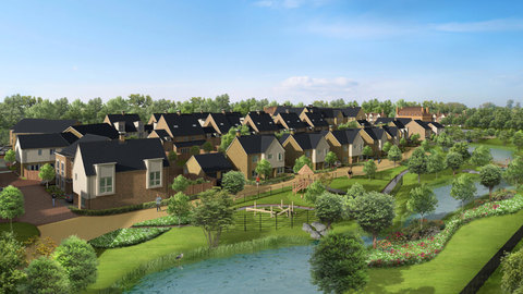 CGI of St Clements Lakes