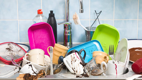 Dirty dishes are a turn-off