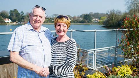 Tony and Peggy Venn at Lymington Shores