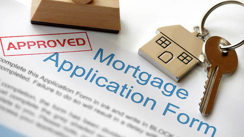 An approved mortgage application form