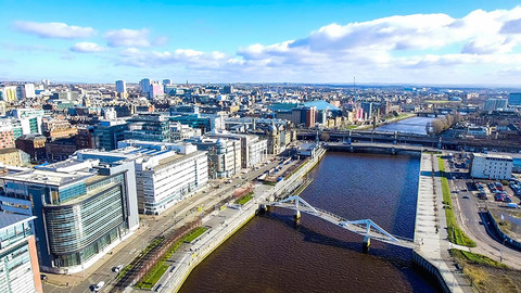 A view over central Glasgow