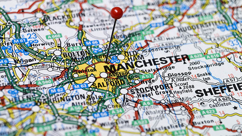 Manchester on the map