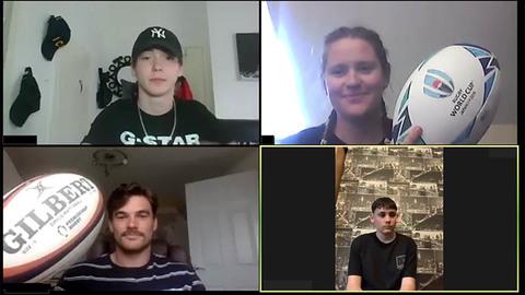 George Furbank (bottom left) mentoring online
