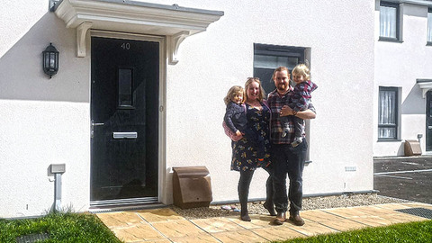 The Holding family at home at Penzance St Clare