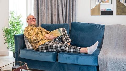 Ian Legg at home at Helix