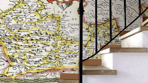 Try using a personalised wallpaper map