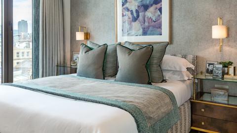 Master bedroom at Twenty Hatton Wall
