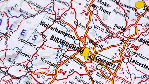 Birmingham on the map