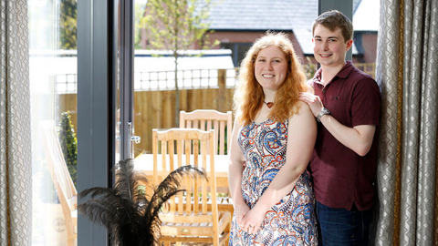 First-time buyers Christopher and Sophie
