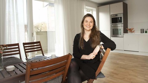 Amanda Parment in her new home