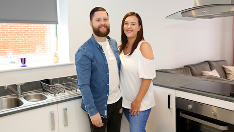 Lucy and Josh in their new home