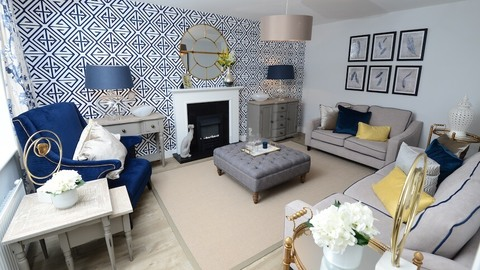 The living room at the Fernwood show home