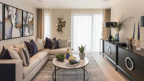 Kidderpore Green living room (Barratt Homes)