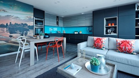 785sq ft apartment designed by Neha Sha of Boscolo