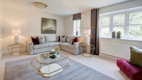 The lounge at the Summerswood show home