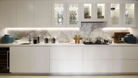 The kitchen at The Hudson show home