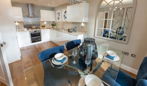 The Mill show home kitchen
