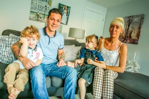 The Mills family at home at The Leys