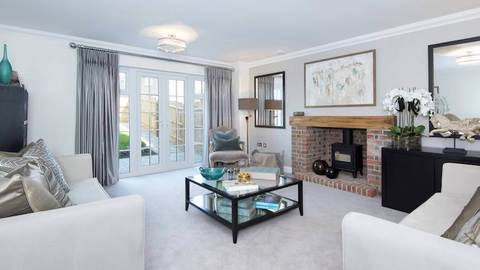 Living area in the Standgrove Field show home