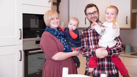 The Lees family (Redrow Homes)