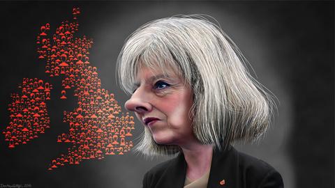 Theresa May – Caricature