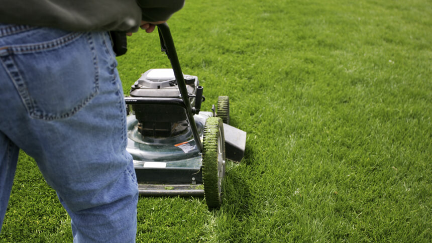 Brits call someone in to mow the lawn