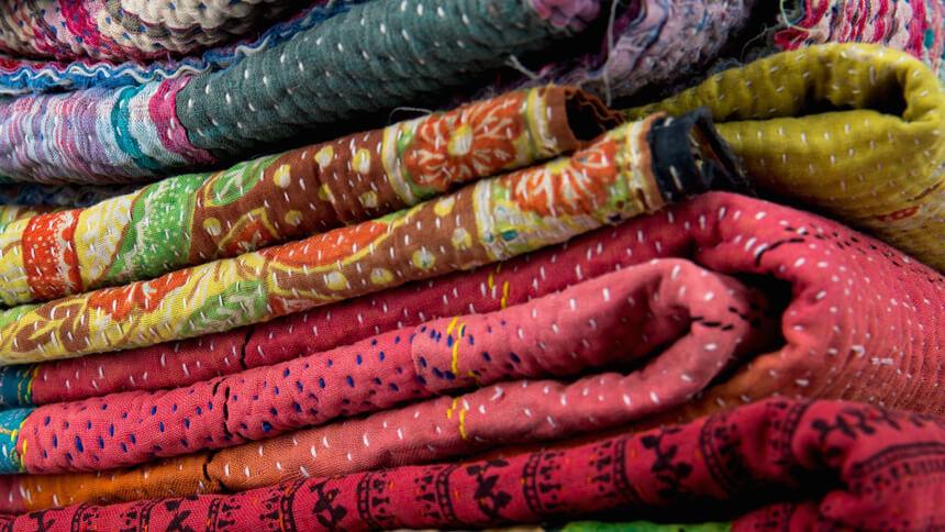 Unique vintage Kantha quilts