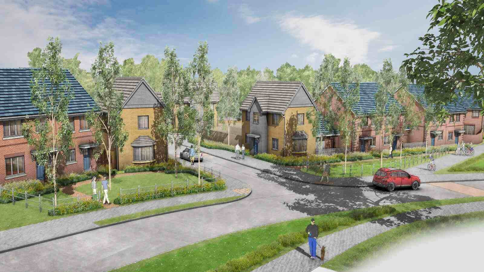 An artist's impression of Buckthorn Grange, Ewell.